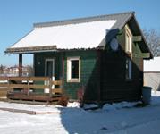 Chalet en bois 50 m² hiver
