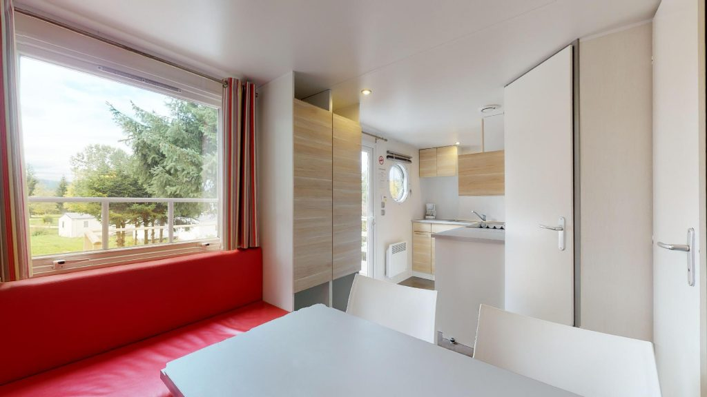 Salon et cuisine mobil-home duo